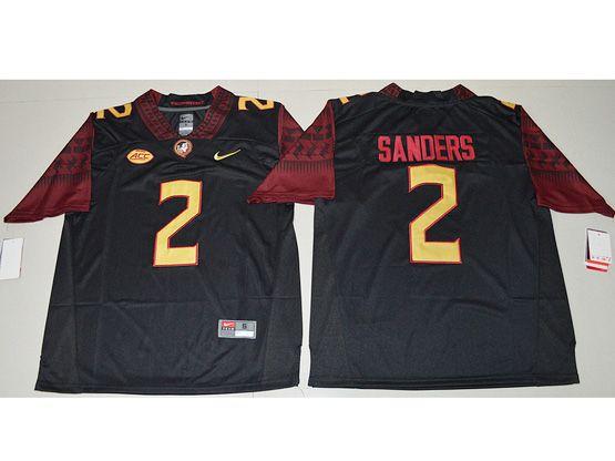Mens Ncaa Nfl Florida State Seminoles #2 Deion Sanders Black Limited Jersey