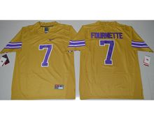 Mens Ncaa Nfl Lsu Tigers #7 Leonard Fournette Gold Jersey