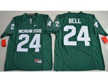 Mens Ncaa Nfl Michigan State Spartans #24 Le'veon Bell Green Limited Jersey