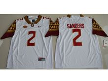 Mens Ncaa Nfl Florida State Seminoles #2 Sanders White Limited Jersey