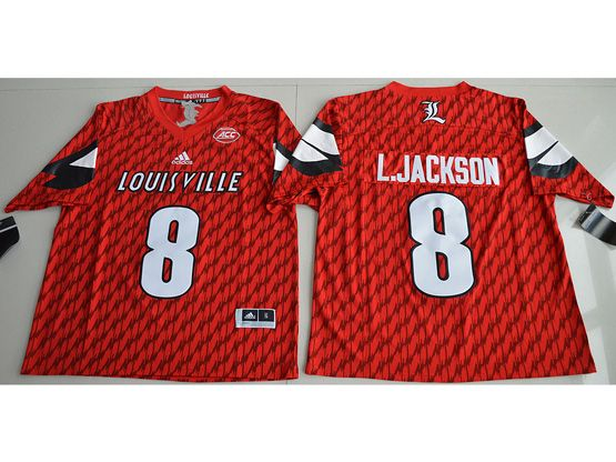 Mens Ncaa Nfl Louisville Cardinals #8 Lamar Johnson Red Jersey