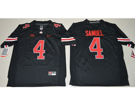 Mens Ncaa Nfl Ohio State Buckeyes #4 Curtis Samuel Blackout Jersey