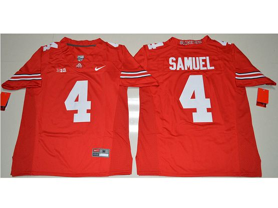 Mens Ncaa Nfl Ohio State Buckeyes #4 Curtis Samuel Red Jersey