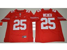 Mens Ncaa Nfl Ohio State Buckeyes #25 Mike Weber Red Jersey
