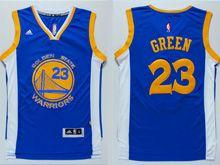 Mens Adidas Golden State Warriors #23 Green Blue Jersey
