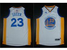 Mens Adidas Golden State Warriors #23 Green White Jersey