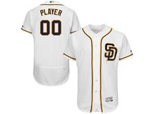 Mens Majestic Mlb San Diego Padres Custom Made Sd White Flex Base Jersey