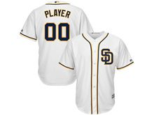 Mens Women Youth Majestic Mlb San Diego Padres Custom Made Sd White Cool Base Jersey