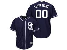 Mens Women Youth Majestic Mlb San Diego Padres Custom Made Blue Cool Base Jersey