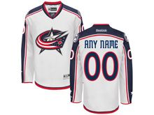 Nhl Columbus Blue Jackets (custom Made) Away White Jersey