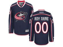 Nhl Columbus Blue Jackets (custom Made) Navy Blue Home Premier Jersey