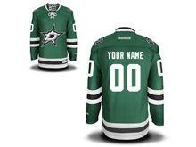 Mens Nhl Dallas Stars (custom Made) Green Jersey