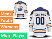 Reebok Edmonton Oilers White Away Premier Jersey