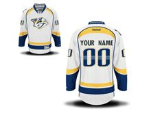 Nhl Nashville Predators (custom Made) White Jersey