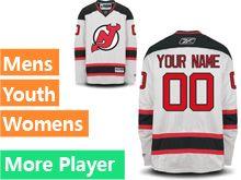 Mens Reebok New Jersey Devils White Away Premier Jersey