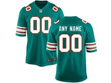 Nfl Miami Dolphins (custom Made) Green Game Throwback Jersey