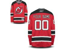 Nhl New Jersey Devils (custom Made) Red Jersey