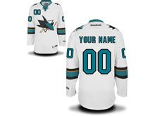 Reebok Nhl San Jose Sharks (custom Made) White Jersey