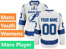 Reebok Tampa Bay Lightning White Away Premier Jersey