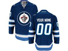 Reebok Nhl Winnipeg Jets (custom Made) Blue Jersey