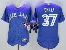 Mens Majestic Toronto Blue Jays #37 Jason Grilli Blue Flex Base Jersey