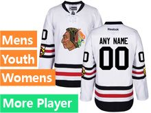 Mens Women Youth Reebok Chicago Blackhawks White 2017 Winter Classic Jersey