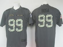 Mens   San Diego Chargers #99 Joey Bosa Black Salute To Service Limited Jersey