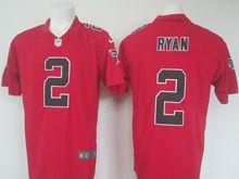 Mens   Nfl Atlanta Falcons #2 Matt Ryan Red Color Rush Limited Jersey