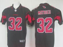 Mens   Nfl Arizona Cardinals #32 Tyrann Mathieu Black Color Rush Limited Jersey
