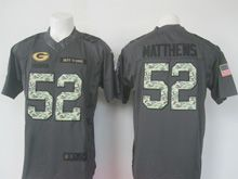 Mens Nfl Green Bay Packers #52 Clay Matthews Black 2016 Salute To Service Jersey