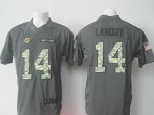 Mens Nfl Miami Dolphins #14 Jarvis Landry Black 2016 Salute To Service Jersey