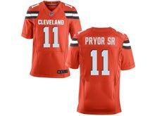 Mens   Nfl Cleveland Browns #11 Terrelle Pryor Orange Elite Jersey