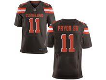 Mens   Nfl Cleveland Browns #11 Terrelle Pryor Brown Elite Jersey