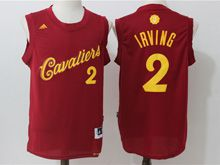 Mens Adidas Cleveland Cavaliers #2 Kyrie Irving Purplish Red 2016 Christmas Day Jersey