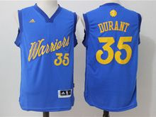 Mens Adidas Golden State Warriors #35 Kevin Durant Blue 2016 Christmas Day Jersey