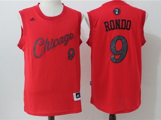 Mens Adidas Nba Chicago Bulls #9 Rajon Rondo Red 2016 Christmas Day Jersey