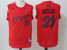 Mens Adidas Nba Chicago Bulls #21 Jimmy Butler Red 2016 Christmas Day Jersey