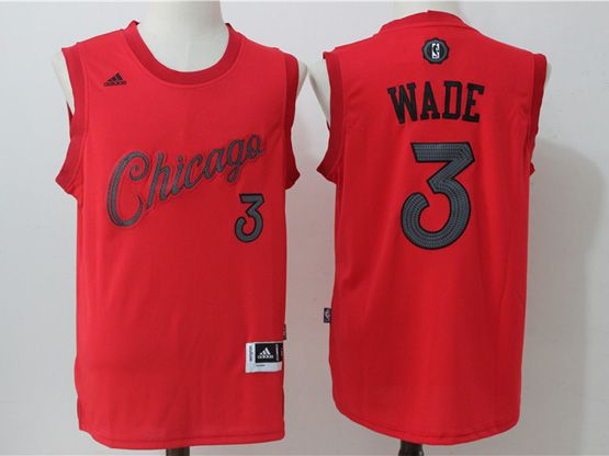 Mens Adidas Nba Chicago Bulls #3 Dwyane Wade Red 2016 Christmas Day Jersey