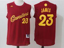 Mens Adidas Nba Cleveland Cavaliers #23 Lebron James Purplish Red 2016 Christmas Day Jersey