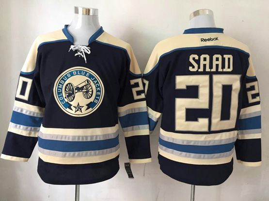 Mens Reebok Nhl Columbus Blue Jackets #20 Saad Blue Jersey
