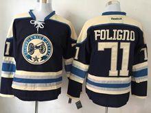 Mens Reebok Nhl Columbus Blue Jackets #71 Nick Foligno Blue Alternate Premier Jersey