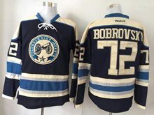 Mens Reebok Nhl Columbus Blue Jackets #72 Sergei Bobrovsky Blue Alternate Premier Jersey