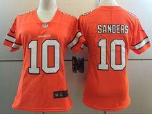 Women   Nfl Denver Broncos #18 Peyton Manning Orange Color Rush Limited Jersey