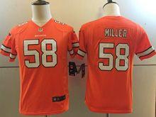 Youth   Nfl Denver Broncos #58 Von Miller Orange Color Rush Limited Jersey