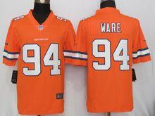 Mens   Nfl Denver Broncos #94 Demarcus Ware Orange Color Rush Limited Jersey