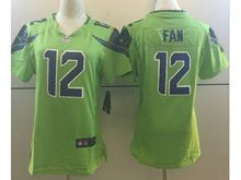 Women   Nfl Seattle Seahawks #12 Fan Green Color Rush Limited Jersey