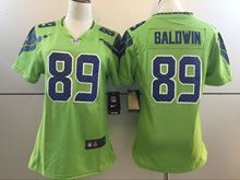 Women   Nfl Seattle Seahawks #89 Doug Baldwin Green Color Rush Limited Jersey