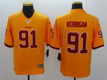 Mens   Nfl Washington Redskins #91 Ryan Kerrigan Gold Color Rush Limited Jersey