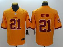 Mens   Nfl Washington Redskins #21 Taylor Gold Color Rush Limited Jersey
