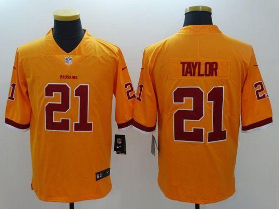 Mens   Nfl Washington Redskins #21 Taylor Gold Color Rush Limited Jersey
